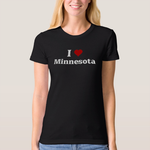 I Love Minnesota - Next Level Apparel CVC Ladies Crew