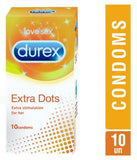 DUREX : Extra dots Condoms, 10 pieces