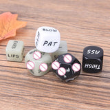 Premium couple's fun dice - 6 dice packed in discreet velvet pouch