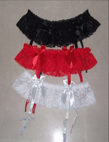 Lace Garter Belt Panty RED
