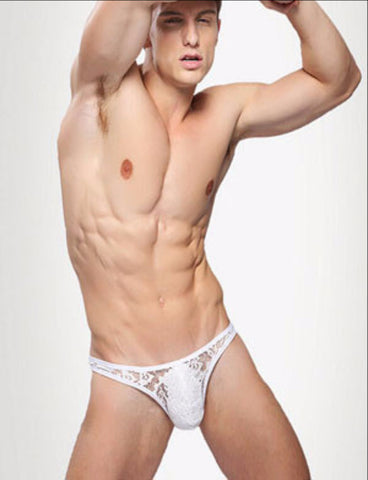High Elastic Male Transparent Lace Underwear
