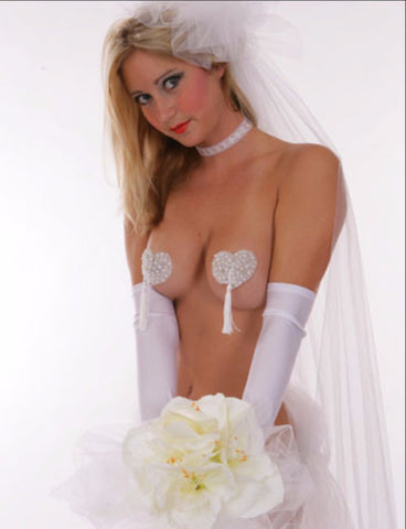 Sweetheart Bridal Pearl Pasties