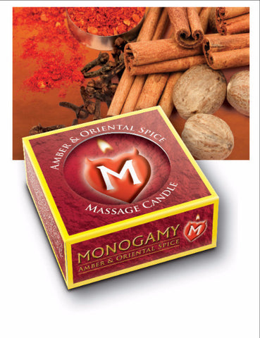 MONOGAMY edible amber and oriented spice flavored massage candle