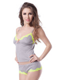 Glow in dark Neon grey 2 piece dress