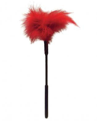 Sex and Mischief Feather Tickler 7 Inches Red