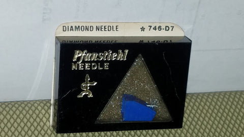 746-D7 Pfanstiehl Diamond needle for Fisher, Sanyo ST-37D, MG-37D Turntables z