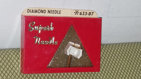 633-D7 Pfanstiehl Diamond needle for Kenwood  TRIO Turntables z