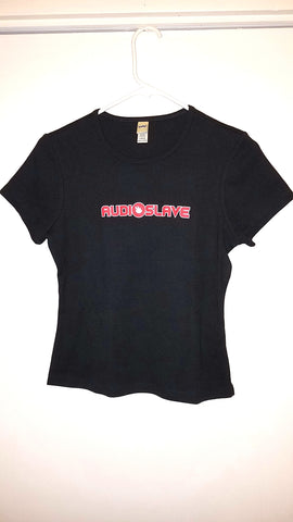Audioslave Logo Black/Red Shirt, Large, Licensed Rock Band T-Shirt