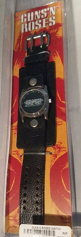 Guns n Roses Watch - Official Guns-n-Roses Wristwatch with Leather Band