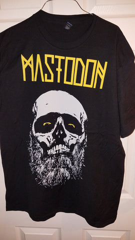 Mastodon T-Shirt Yellow Skull Licensed Metal Band Merchandise XL