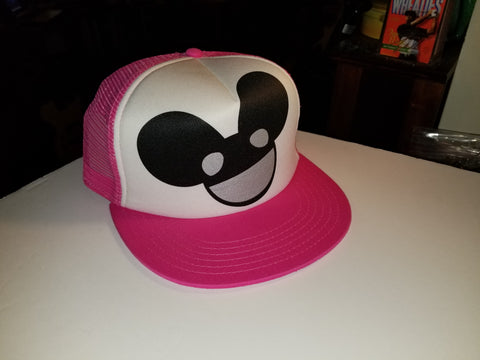 DeadMau5 Hat, Dj Deadmaus Pink Trucker Hat  Licensed merchandise