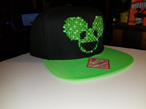 Rare DeadMau5 Hat, Dj Deadmaus Green Pixel Hat  Licensed merchandise