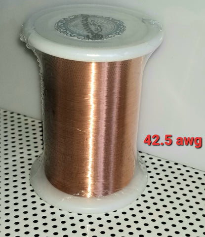 42.5 AWG  Magnet / Coil Wire, Turntable Cartridge builder DIY Copper 4 oz. / 13950' ft