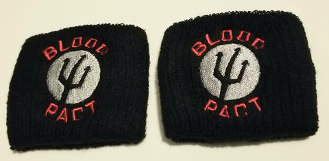 Blood Pact Wristband Sweatband Set Officially licensed Band merchandise. Shipped with USPS Media Mail.