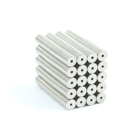 5mm x 1 mm x 1 mm Neodymium Magnet with Center hole Cartridge coils headphones G