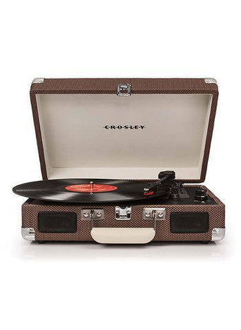 CR8005D-TW Crosley Cruiser Deluxe Turntable With Bluetooth - Tweed Vinyl