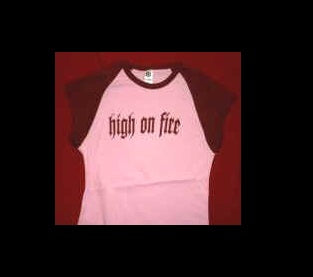 High on Fire Pink Shirt, Juniors Medium OS – Metal Band  Licensed T-Shirt