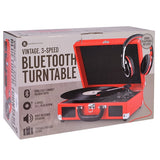 INNOVATIVE ITVS-550BT RD Bluetooth(R) Suitcase Turntables (Red) color
