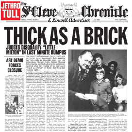 Jethro Tull LP Thick as a Brick on Vinyl