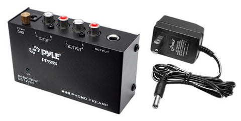 Ultra Compact Phono Turntable Pre-Amplifier w/ 9 V Battery Compartment
