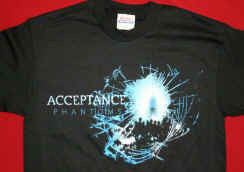 Acceptance - Phantoms  Shirt, Youth Large, Rock Band T-Shirt