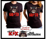 Limited Edition - GATO Cat T-Shirt - Official AC/DC Merchandise