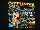 The Eyeliners  Comic Graphic. 100% Cotton Shirt, Large, Licensed Rock Band T-Shirt