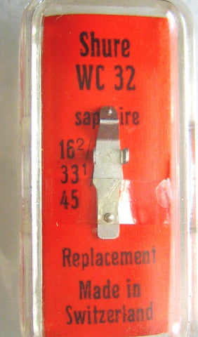 Needles & Cartridges - Shure WC 32 N.O.S. Replacement Needle Saphire Tip