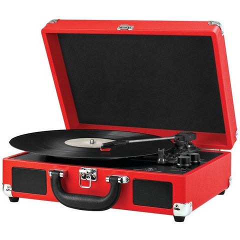 Record Players - INNOVATIVE ITVS-550BT RD Bluetooth(R) Suitcase Turntables (Red/Black)