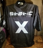 STATIC X   -   Football Jersey  Size - Large Rock T-Shirt Official band Merchandise