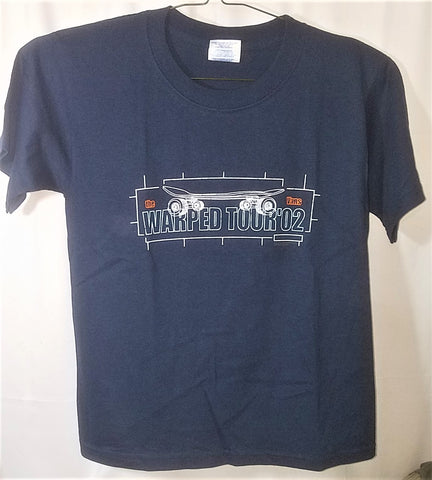 Vans Warped Tour Dark Blue Shirt, Youth Medium (10-12), Licensed Rock Band T-Shirt