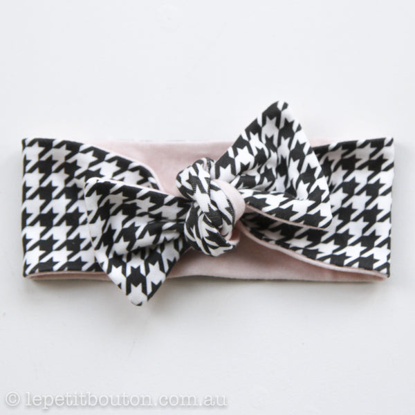 "Organic Reversible Bow Knot ""Marilyn"" Headband"