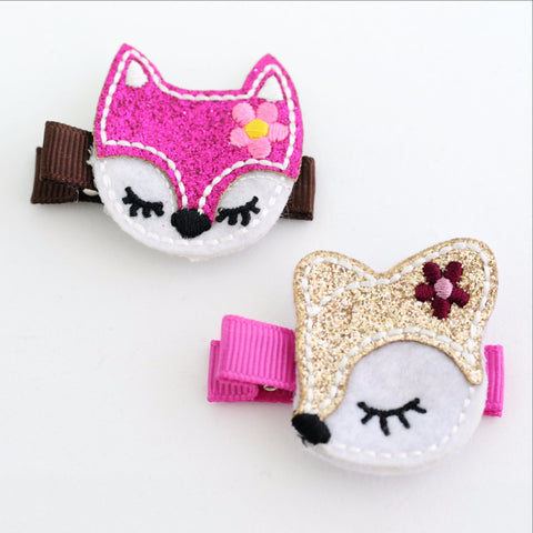 Forest Friends Hair Clip Pair