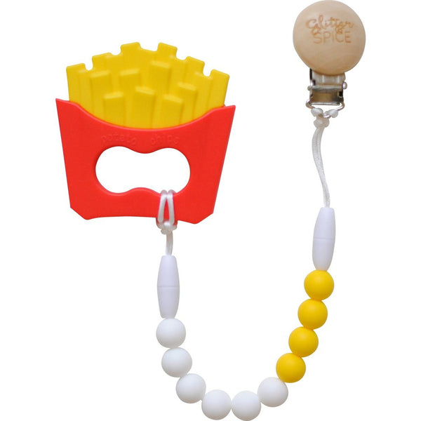 French Fry Teether with Teether Clip