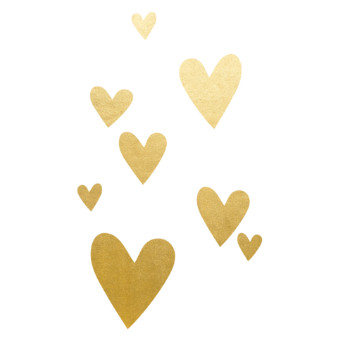 2 Set Tattoos - 8 Gold Hearts