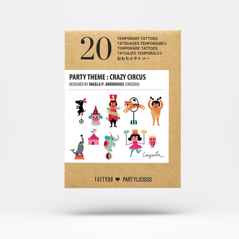 Party Tattoos Pack - Crazy Circus