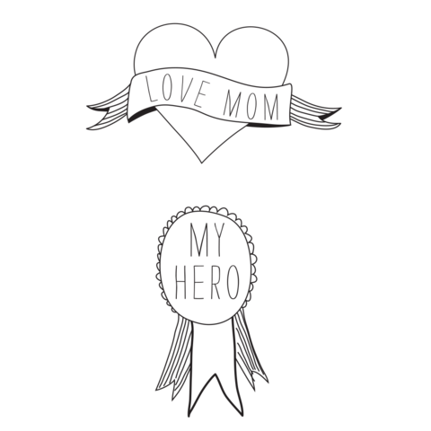 2 Set Tattoos - Hero Mom