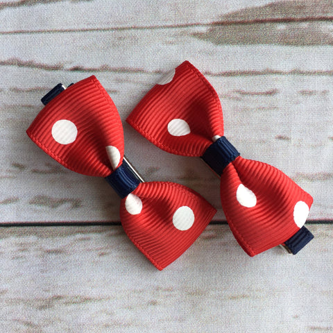 Baby Classic Bow Clips - Minnie Style
