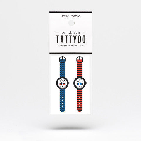 2 Set Tattoos - Strange Watch