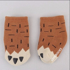Paw Paw Anti-Skid Socks (Brown)