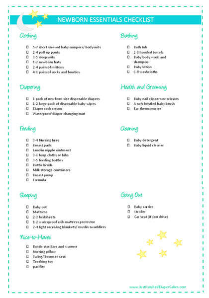The Guide To Newborn Basic Essentials {Free Printable Checklist