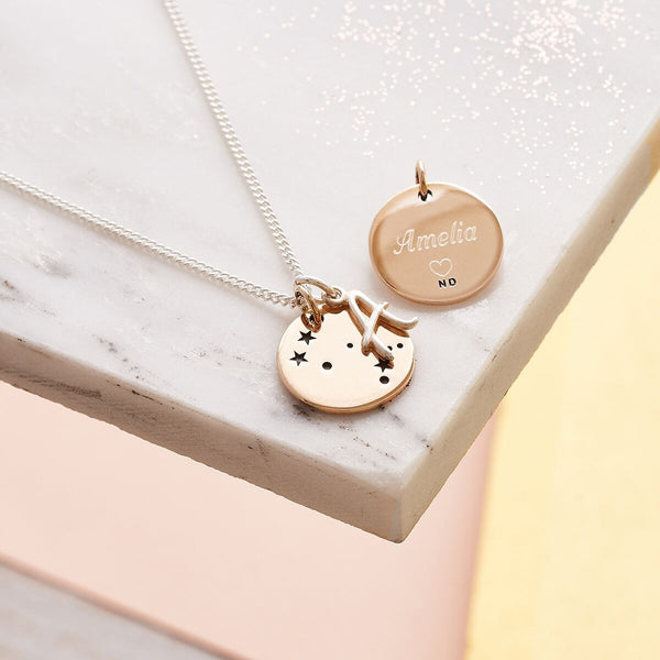Its In The Stars Personalised Necklace with Initial Charm