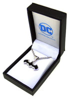 Batman Sterling Silver Pendant (Opaque Black Enamel)