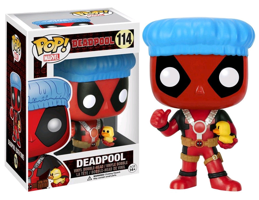 Deadpool - Shower Cap with Ducky US Exclusive Pop! Vinyl Figure