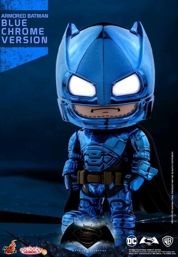 Batman v Superman: Dawn of Justice - Batman Armored Blue Chrome Cosbaby