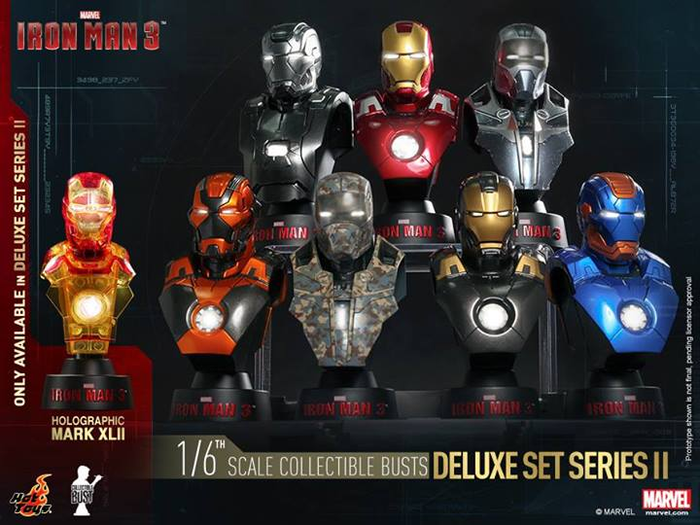 Iron Man 3 - 1:6 Scale Bust Set of 8 Series 2