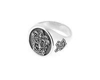 Harry Potter - Gryffindor Sterling Silver House Crest Signet Ring