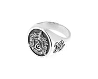 Harry Potter - Slytherin Sterling Silver House Crest Signet Ring