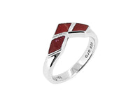 Harley Quinn Sterling Silver Ring (Red Enamel)