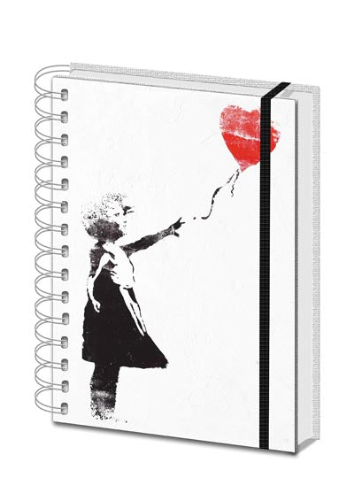 Banksy - Balloon Girl - Spiral Notebook